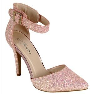 Forever Pink Glitter Heels